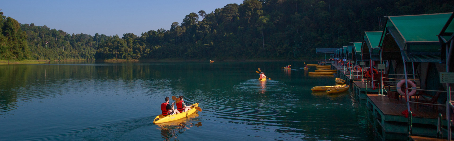 Kayaking at the Rainforest Camp