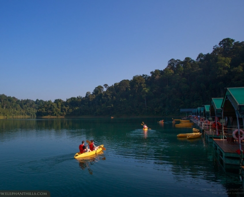 Elephant Hills floating activities with one night at The Rainforest Camp Cheow Larn Lake in Khao Sok National Park.